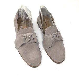 Lucky Brand Suede Leather Loafer Flats Gray 9 /mn
